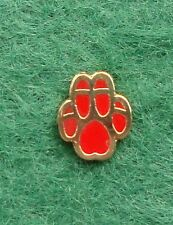 British Army Northern Ireland DOG UNIT RED PAW tie tac pin badge OP BANNER K9 ,