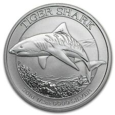 1/2 once argent requin tigre Australie 2016 1/2 oz silver coin Tiger shark 2016