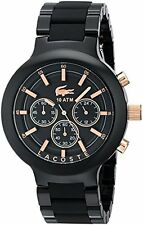 Lacoste Men's 2010769 Borneo Analog Display Japanese Quartz Black Watch