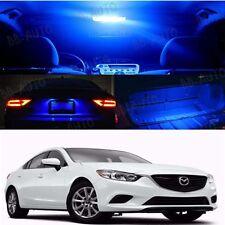 Blue Interior LED Light Bulb Package Kit For 2012 - 2016 Mazda 6 Mazdaspeed