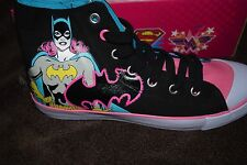 woman tennis shoes high top Batgirl DC's nwt  10 pink teal black SALE