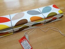 Roman Blind Orla Kiely Multi Stem Interlined Self Locking Side Chain Track MTM