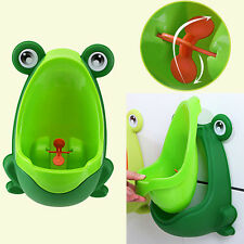 Frog Children Potty Toilet Training Kid Urinal Baby Boys Pee Trainer Bathroom JX