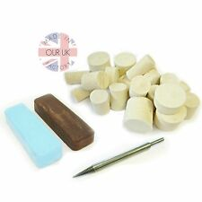 ALUMINIUM METAL POLISHING KIT 16 - Compound & Felts. Use with a Drill