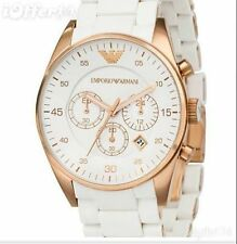 IMPORTED EMPORIO ARMANI AR5919 WHITE CHRONOGRAPH MENS WATCH GIFT 2YR WARRANTY