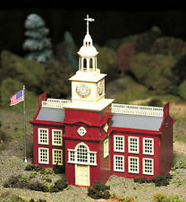 New In Box ! O/S Scale Plasticville Town Hall Kit  by Bachmann
