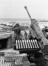 WWII B&W Photo German Flak 41 AA Gun  WW2 /2066