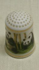WWF WORLD WILDLIFE 1981 BONE CHINA PANDA BEAR THIMBLE