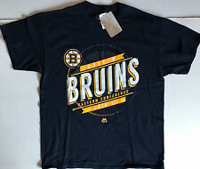 NWT NHL Boston Bruins Majestic Black Eastern Conference S/S Cotton T Shirt 2XL