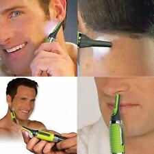 Men Body Nose Nasal Ears Eyebrow Precision Facial Hair Clipper Trimmer Shaver