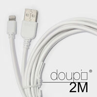 USB Lightning Daten Lade Kabel iPhone 6 6S Plus 5 5S 5C SE iPad iPod Weiß 2m