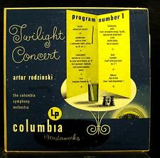 RODZINSKI twilight concert program no 1 LP VG+ ML  4311 Alex Steinweiss 1950 USA