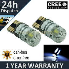 2X W5W T10 501 CANBUS ERROR FREE WHITE CREE LED NUMBER PLATE BULBS NP103002