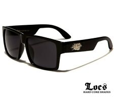 Locs Sunglasses - Men's Flat Top Wayfarer Style Frames - Black - FREE P&H IN AUS