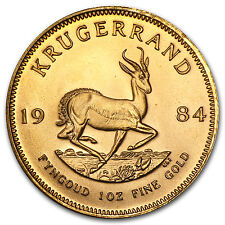1984 South Africa 1 oz Gold Krugerrand - SKU #88673