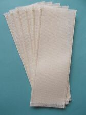Lot of 6 Blank Cross Stitch Bookmarks - Antique White 14 Count Aida