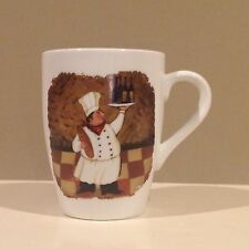 2003 Boston Warehouse Chef with Wine & Bread Coffee Cup Mug