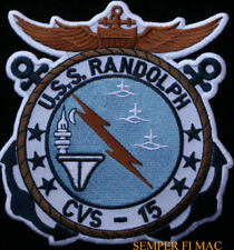 USS RANDOLPH CVS-15 CV CVA AIRCRAFT CARRIER US NAVY PATCH VIETNAM PIN UP WING