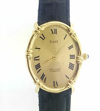 Rare 1960s Piaget Van Cleef  VCA 18k Gold  Bamboo Mechanical Watch