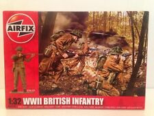 Airfix A02718 WWII British Infantry 1:32 Scale New 14 Unpainted Pieces OFFER