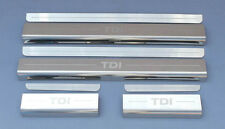 VW Volkswagen Golf TDI Mk7 2013+ Chrome Door Sill Protectors Kick Plates 4 / 5 D