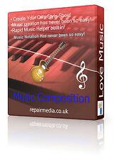 Composition musicale notation rythme mélodie logiciels d'édition DVD de Windows