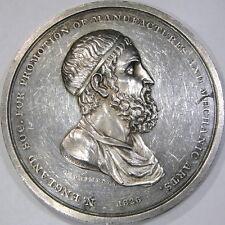 """Imporrtant 1826 """"Archimedes Medal"""" Designed by Christian Gobrecht"""