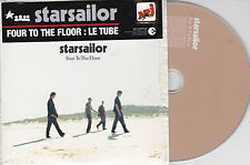 CD CARDSLEEVE CARTONNE STARSAILOR FOUR TO THE FLOOR 2 VERSIONS FRENCK STICK