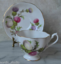 TEA CUP TEACUP SAUCER SET,QUEEN ANNE, THORN FLOWER, bone china