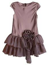 New Girls Boutique Isobella & Chloe sz 4 Taupe Special Occasion Dress Holiday