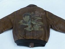 *AVIREX VINTAGE FLIEGER PILOTEN LEDERJACKE*A2*ALL BE SEEING YOU*GR: M*RARITÄT