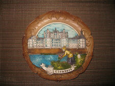 Brand New Large France, The Chambord Castle Souvenir Collectible Plate