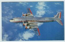 American Airlines DC-7 Flagship Plane Airliner Postcard