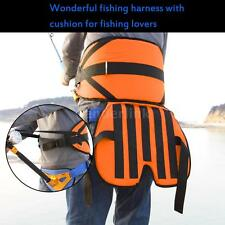 Sea Fishing Fighting Waist Belt Rod Pole Holder Big Tackles Fishing Harness O3Y2