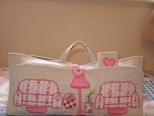 KNITTING/CRAFT BAG HAND MADE SOFAS IN CATH KIDSTON FABRIC NEW