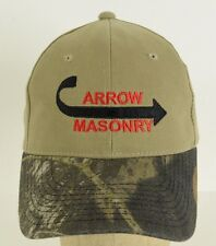 Arrow Masonry Gilbert Arizona Camouflage Tan Baseball Cap Hat Adjustable