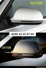NEW Audi A5 07-09 Carbon Fibre Wing Mirror Covers A5/S5 OEM FITTING (PAIR)