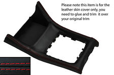 RED STITCH GEAR SURROUND LEATHER SKIN COVER FITS SUBARU IMPREZA WRX 2015