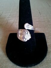 """Vintage  """"WMA"""" Rogers Oneida Sterling Silver Spoon Ring"""