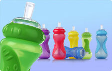 1 NEW Nuby Sippy Cup No Spill Sports Sipper Straw 10 oz