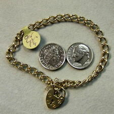 9 ct GOLD Second hand solid charm bracelet