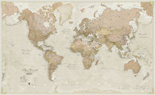 World Antique Megamap 1:20, Wall Map Giant Poster Print, 77.5x46 World Map