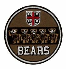 "BU Brown University Bears Vintage Embroidered Iron On Patch (NOS) 3"" x 3"" NICE"