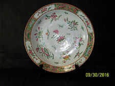 "Antique Qing Dy Canton Rose Medallion Hand Painted Charger/Plate/Bowl ""Large"""