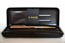 Parker Insignia Dimonite 14k Gold Plated Ball Point Pen New In Original Box