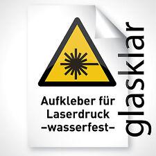 3x GLAS KLAR selbstklebende Folie Folienaufkleber Druckfolie Laserdrucker A3