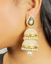 7191 Indian Bollywood Traditional Big Jhumka Jhumki Earring Jewellery Set