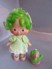 Vintage Strawberry Shortcake Lime Chiffon doll & Parfait Parrot bird pet - R