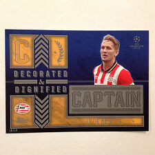 LUUK DE JONG Eindhoven Captain D&D #/10 Made 2016 Topps Champions UEFA 5X7 GOLD