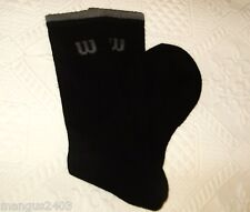MENS HIGH QUALITY COTTON WILSON SPORT SPORTS SOCKS BLACK ARCH SUPPORT 6/12 39/46